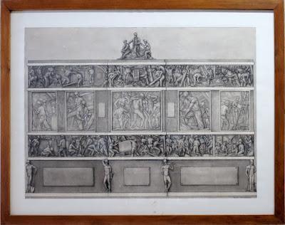 Dibujo de tema minero de Félix Magdalena