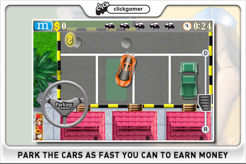 Iphone/Ipod touch:App Review of Parking Mania (Great Game) image at car games rpm