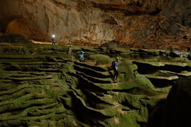 Panorama lembah hijau yang berada di dalam Mammoth Cave