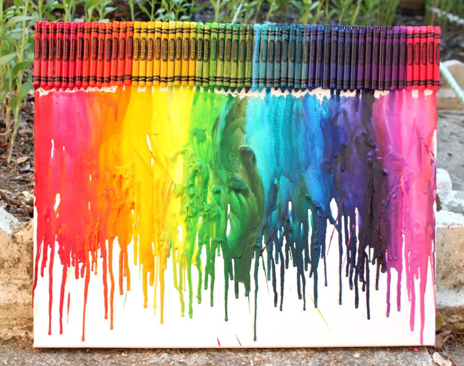artsy fartsy annie diy melted crayon art