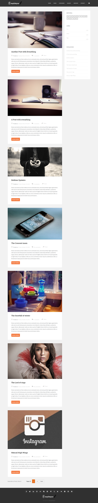 Feather SEO Ready Responsive Blogger Template