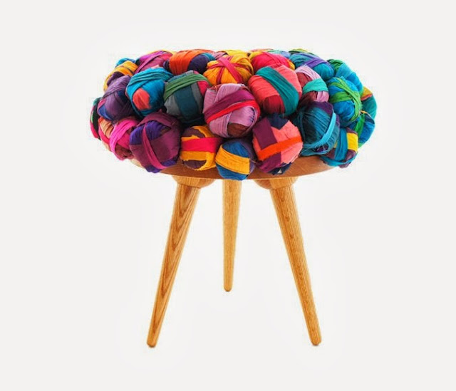 Recycled Silk Chair Design