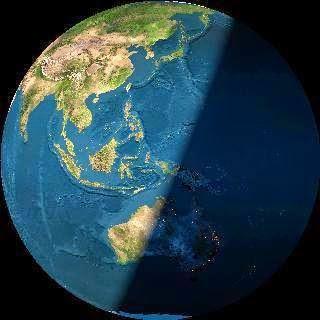 7 - Hình ảnh Trái Đất nhìn từ vệ tinh VINASAT