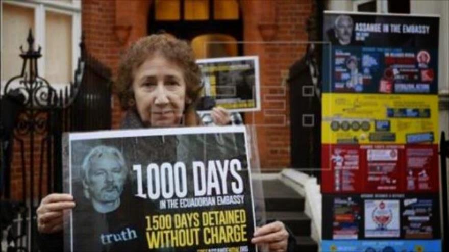 """Partidario de Assange piden su liberación tras """"mil días y sin ser encausado"""""""