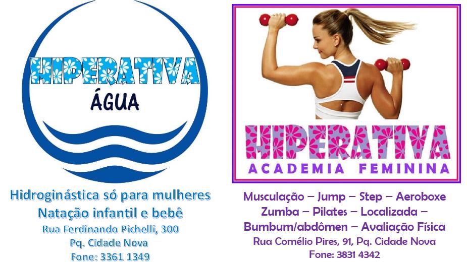 HIPERATIVA Academia Feminina e HIPERATIVA Água