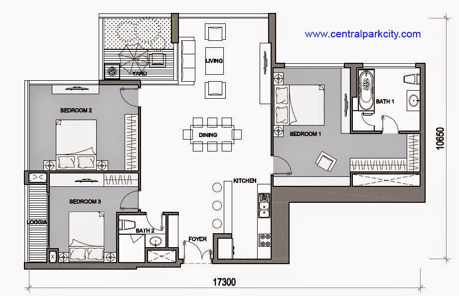 Vinhomes Central Park Penthouse - Căn Vinhomes Penthouse số 06 tầng 45 - 3PN - 145.5m2