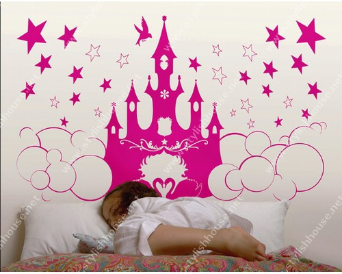 Princess Castle and stars stickers for bedroom walls