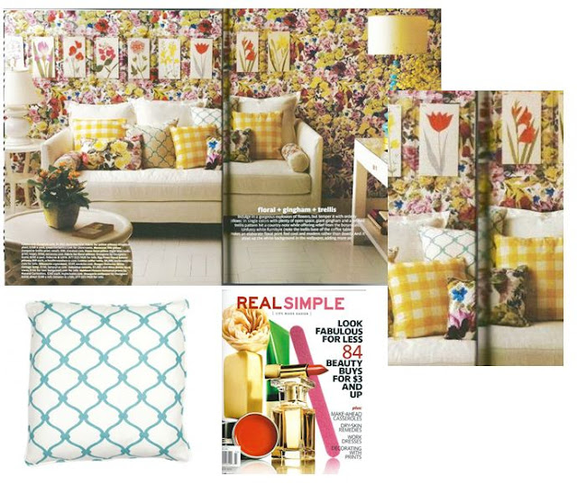 Nbaynadamas Fence pillow in the March 2012 issue of Real Simple