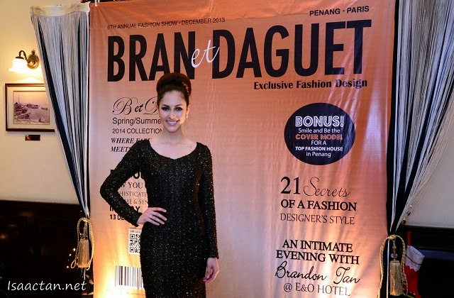 Kimberly Leggett, Ms Universe Malaysia 2012 attending the Bran et Daguet 'Secret Rendezvous' Fashion Show @ E&O Hotel Penang
