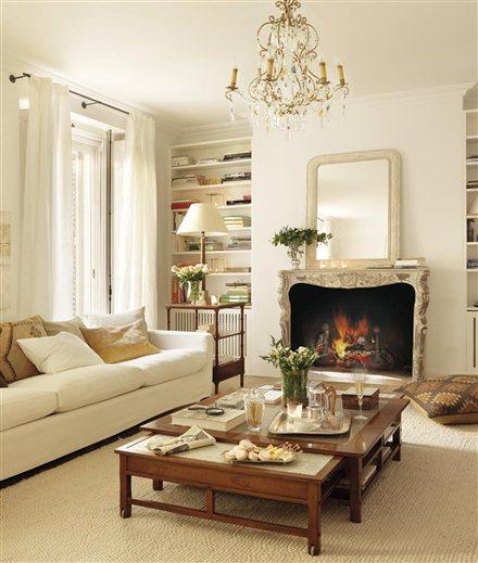 Blog by nela un piso lleno de luz a light filled floor - Muebles de salon con chimenea ...