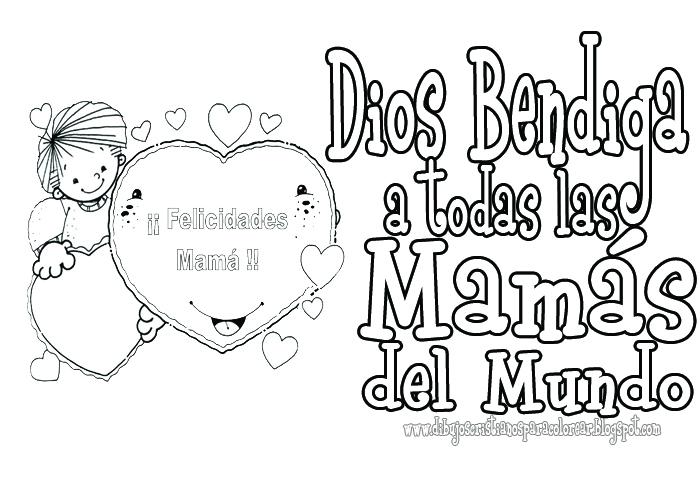 Dia de las madres para colorear - Dibujos cristianos ~ Dibujos ...