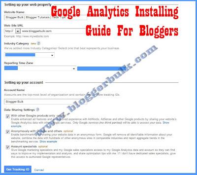 Installation Guide Google Analytics in Blogger