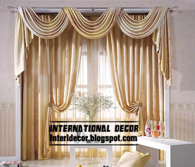 best curtain models 2015, drapes curtain design, beige door curtain design