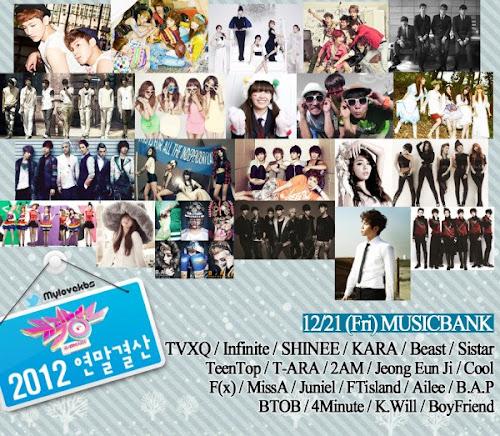 Poster KBS Music Bank spesial akhir tahun