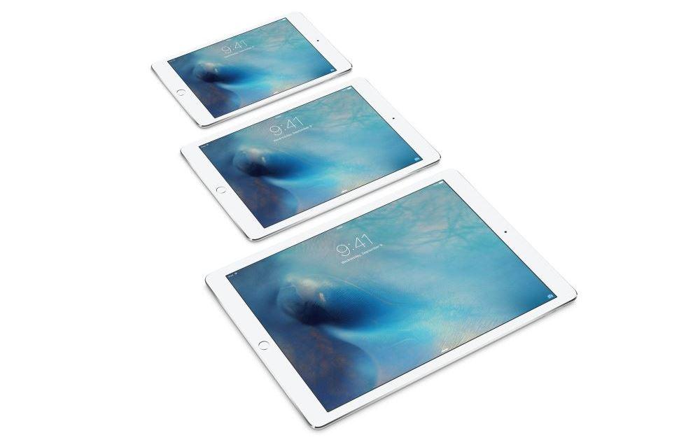 iPad Pro, iPad Air 2 e iPad mini 4