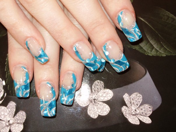The Enchanting Blue cheetah print nail designs Images