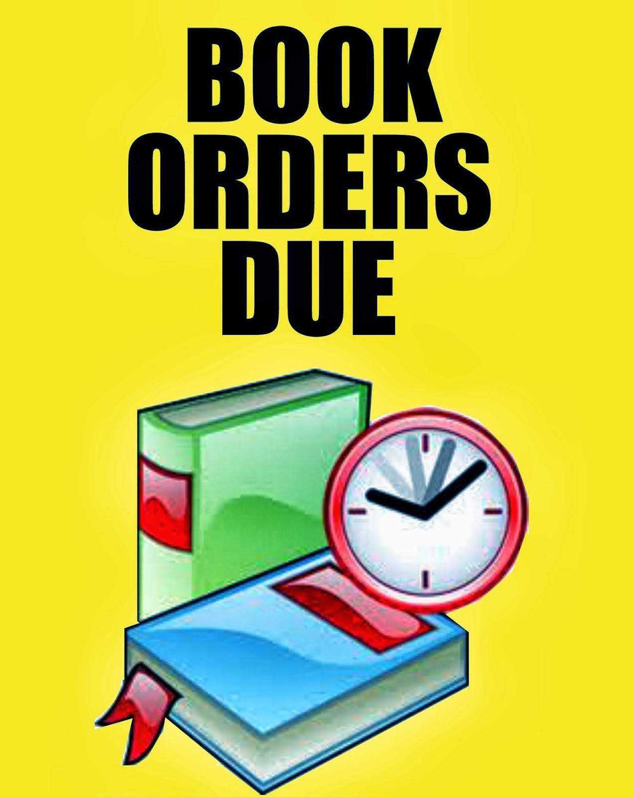 Image result for book orders are due
