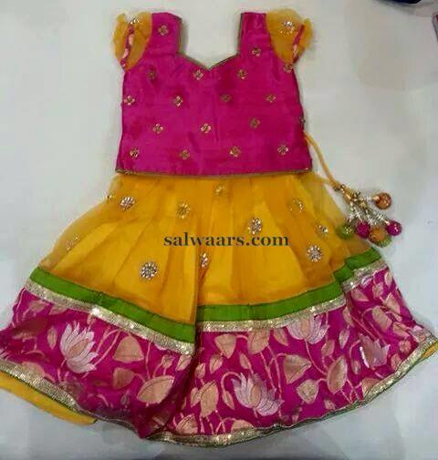 Floral Border Pretty Lehenga