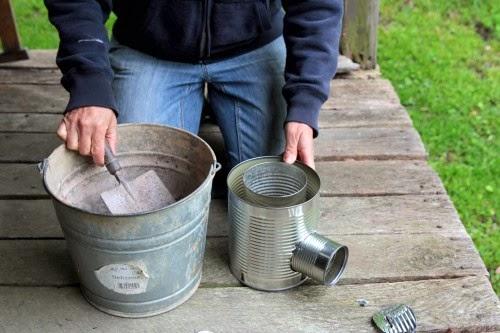 DIY Portable Tin Can Rocket Stove