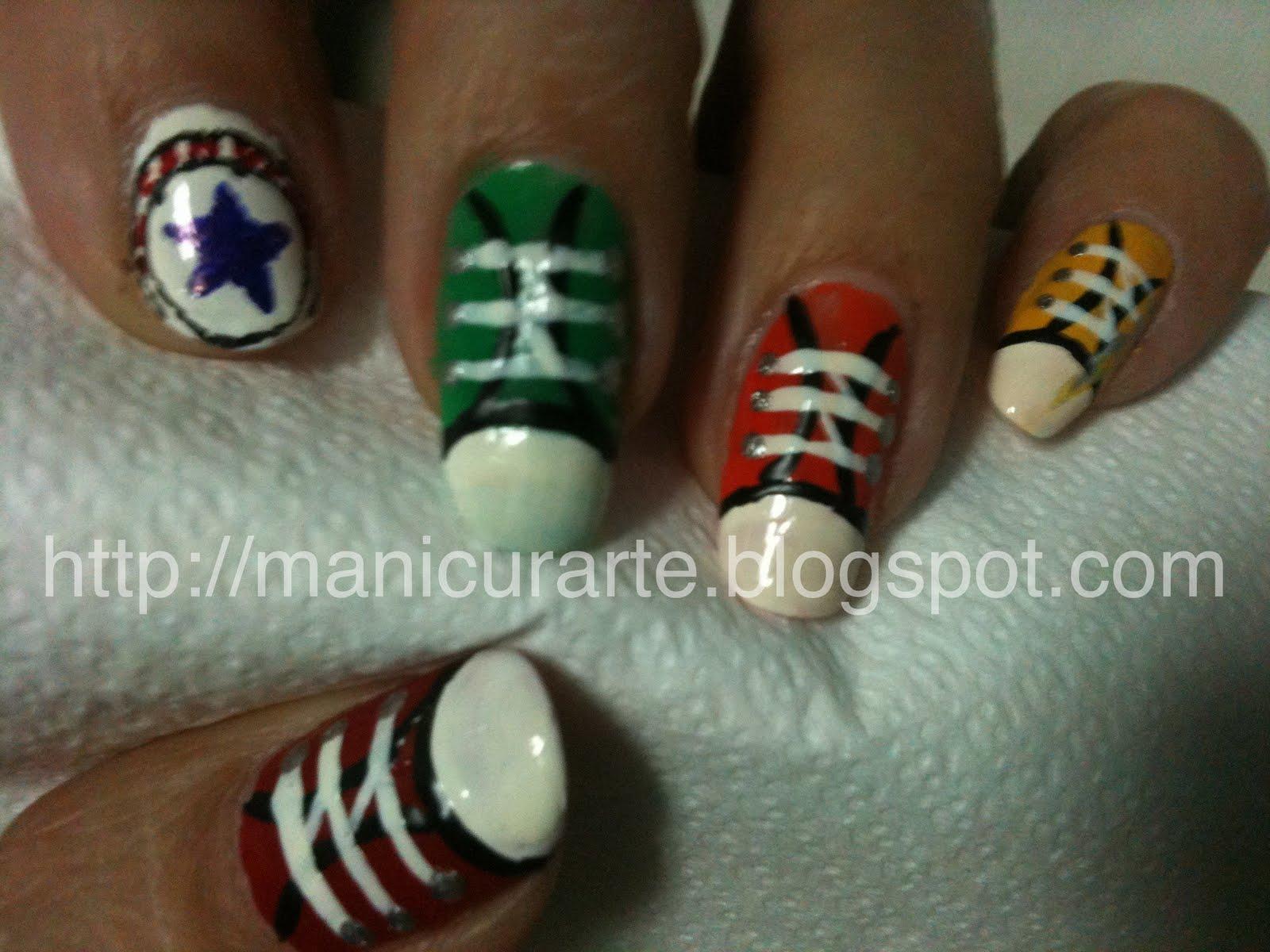 MANICURARTE*: Converse nails / manicura Converse