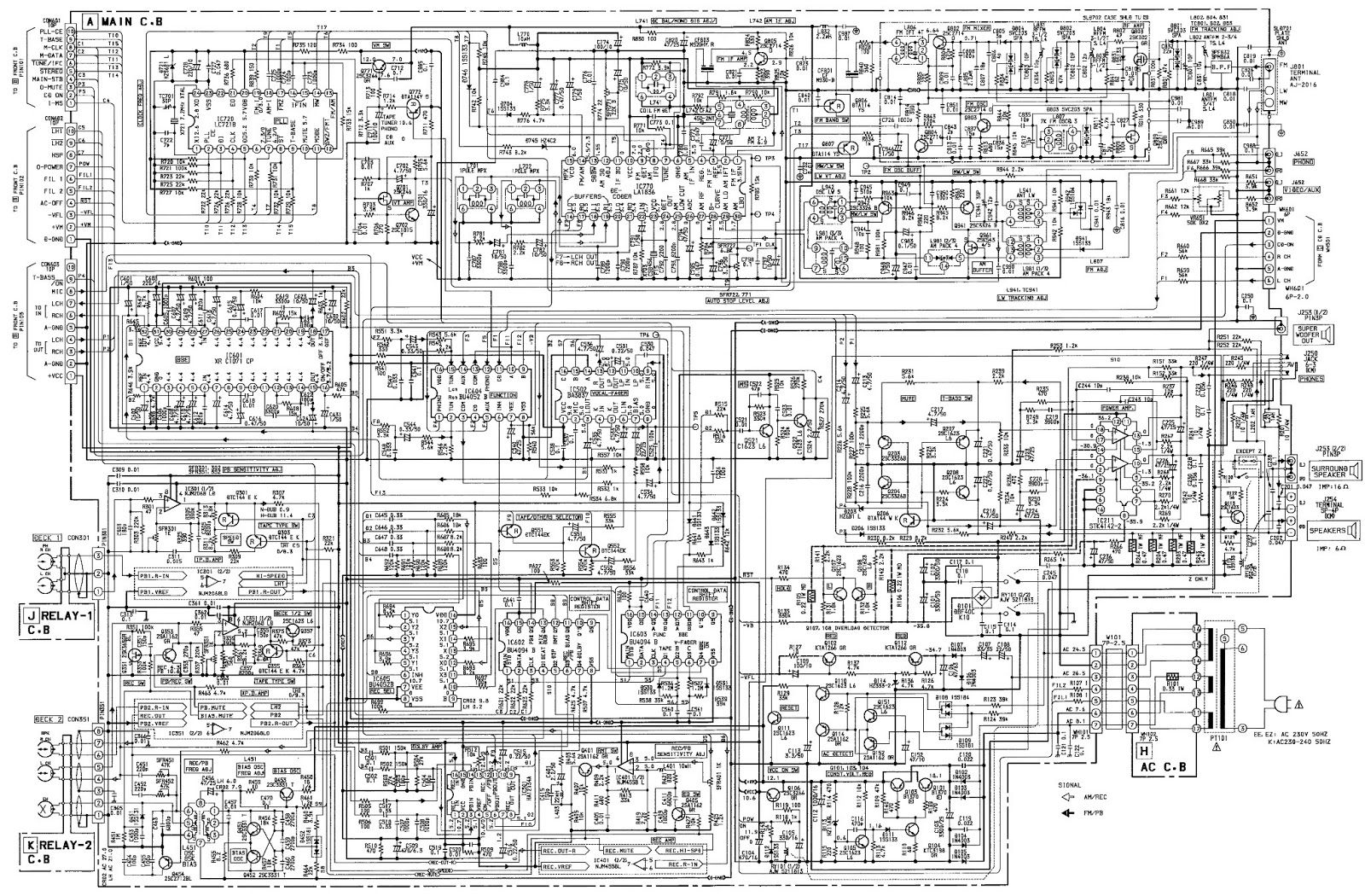 Aiwa Xs Z1100 Cx Z1200 Zap1 Compact Disc Stereo Wiring Diagram Main Heglh