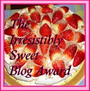 I was awarded Irresistibly Sweet Blog Award!!!