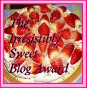 I was awarded Irresistibly Sweet Blog Award!!!
