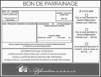 BON DE PARRAINAGE/DONS À IMPRIMER