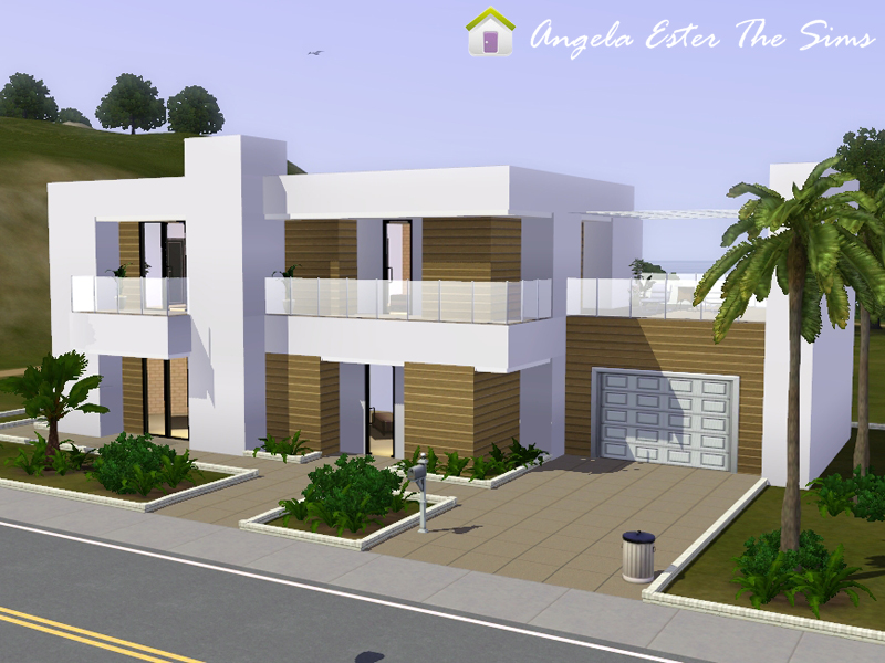 Angela ester the sims casa 44 the sims 3 for Casa moderna los sims 3