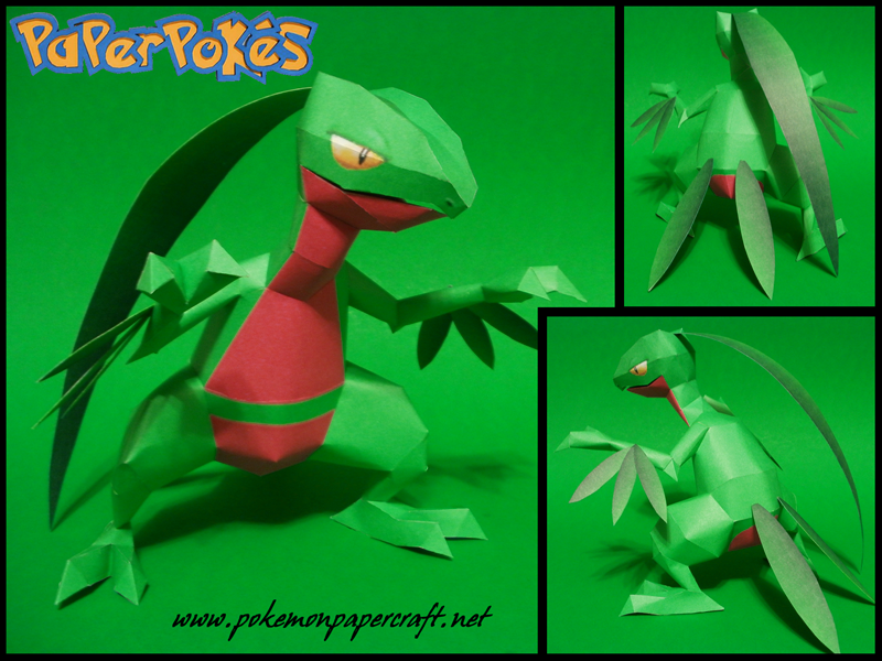 Pokemon Grovyle Paper Model