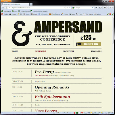 Screen shot of http://2012.ampersandconf.com/schedule.