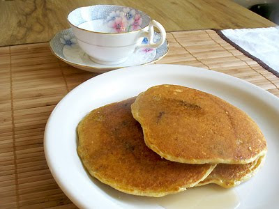 cornmeal quinoa pancakes
