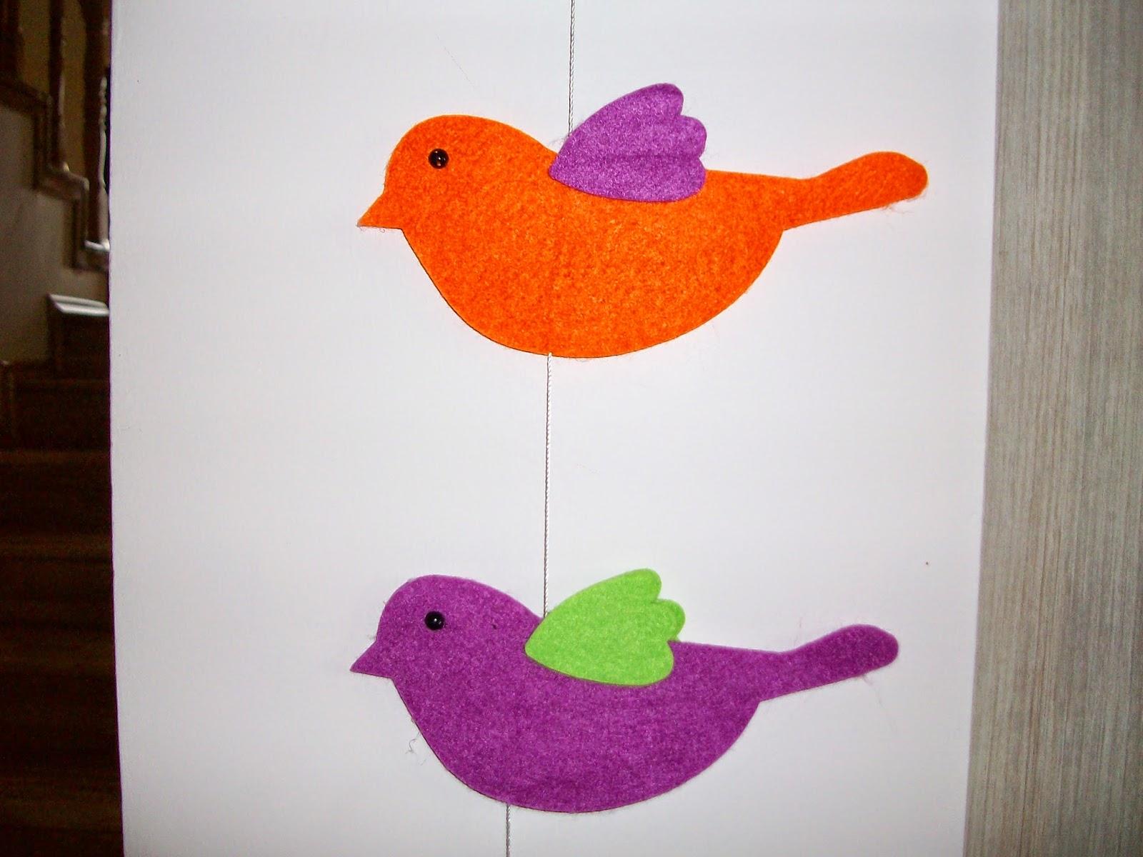 Kartondan Kolay Kuş Yapımı