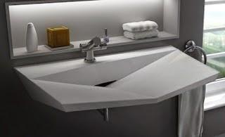 Gambar desain wastafel elegant modern