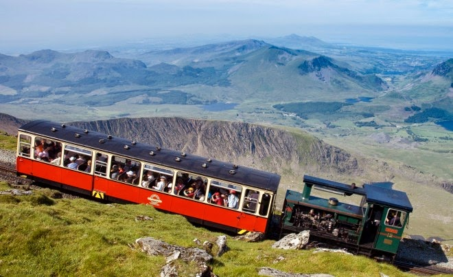 Railway on Snowdon Mountain