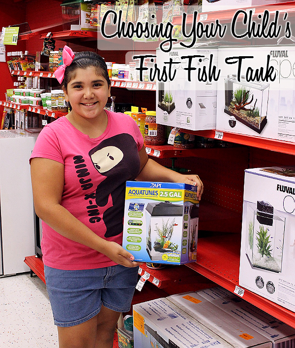 Choosing the right first tank for your child with the API AquaTunes 2.5 Gallon Aquarium. #sp