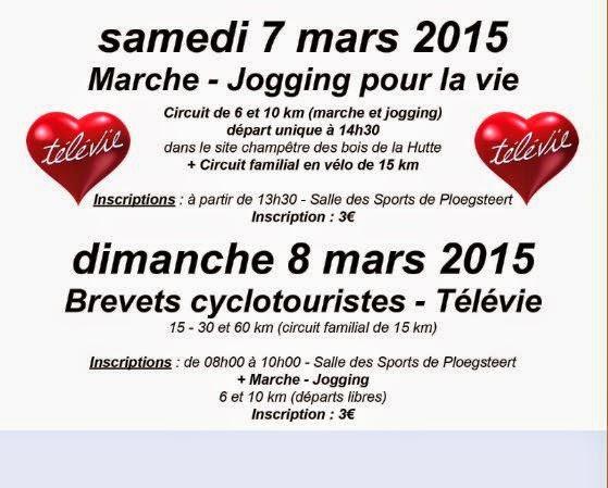 7 et 8 mars Marche - Jogging -brevets cyclotouristes.