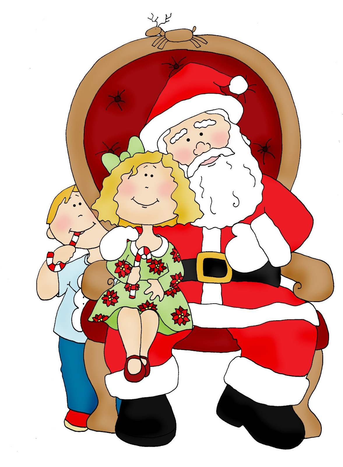 free dearie dolls digi stamps christmas in july visiting santa