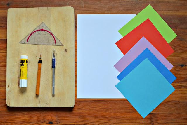 Bunte Kunstwerke aus Papier selbermachen - little box of tricks
