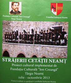 """Broşura proiectului """"Străjerii Cetăţii Neamţ"""", 5.10.2013..."""