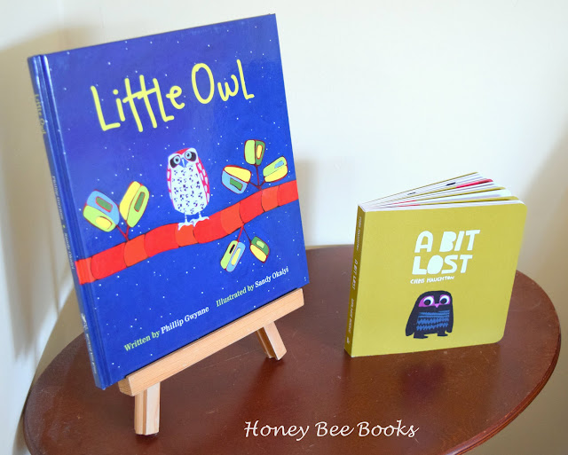 Use picture books as decorations at an owl themed birthday party