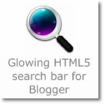 Glowing/Pulsating HTML5 Search bar for Blogger
