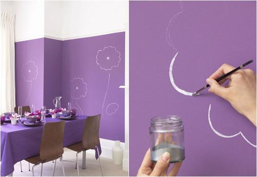 Como pintar as paredes gastando pouco decora o e - Ideas decoracion paredes salon ...
