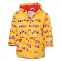 Fire Trucks Raincoat in Yellow Design Fashion Children Trend 2013