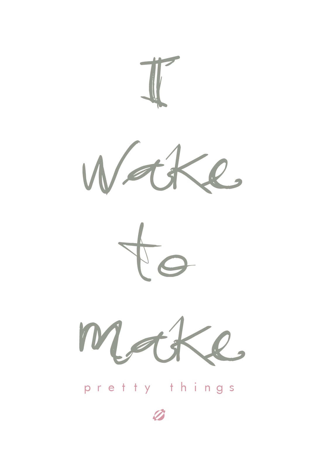 LostBumblebee ©2014 I Wake to Make Pretty things Free Printable Personal Use Only.