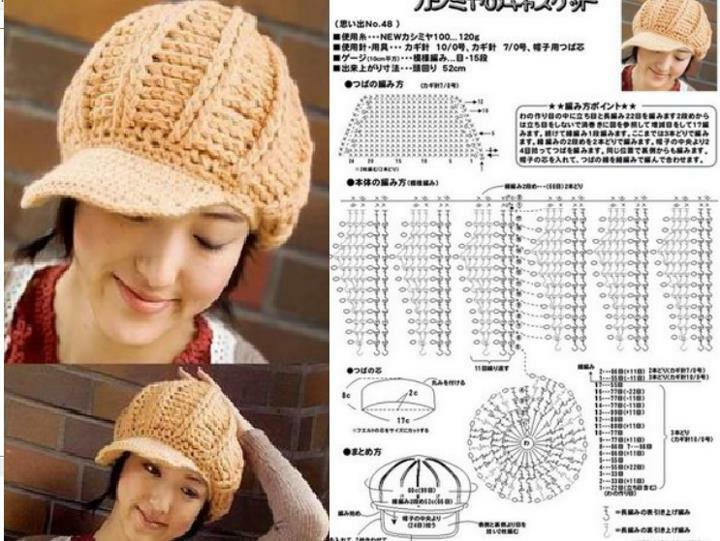 Patron Crochet Gorra con Visera - Patrones Crochet