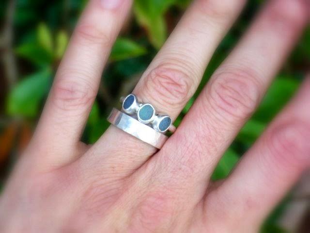 sea glass ring seaglass Glasswing Jewellery