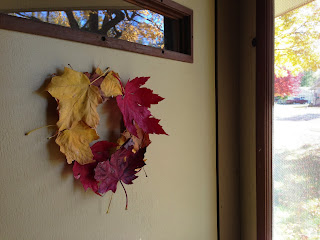 Vet School Widow: Leaf Wreath