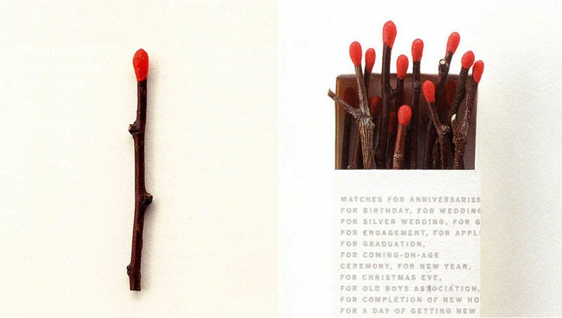 Cerillas de diseño: Matches de Kaoru Mende