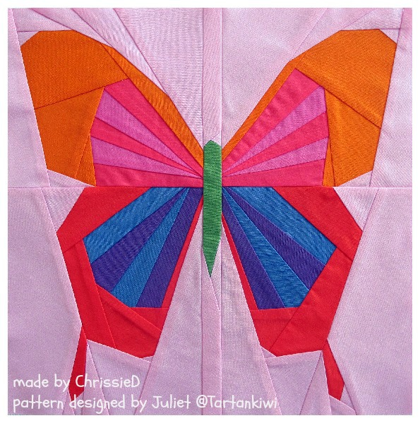 Made By Chrissied Paper Piecing A Butterfly